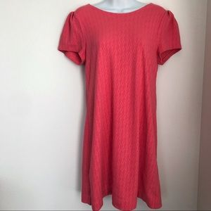 Anthropologie Maeve Textured Coral Shift Dress